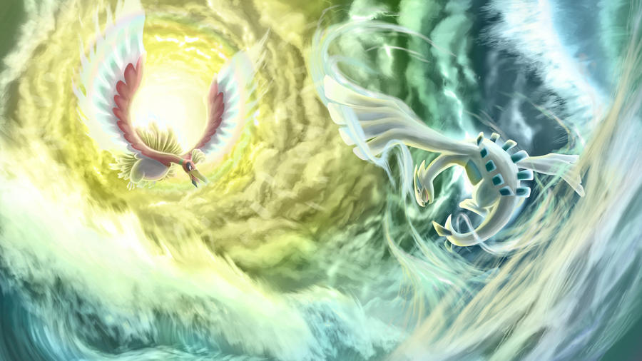 Lugia VS  Ho-Oh by I-is-gundam