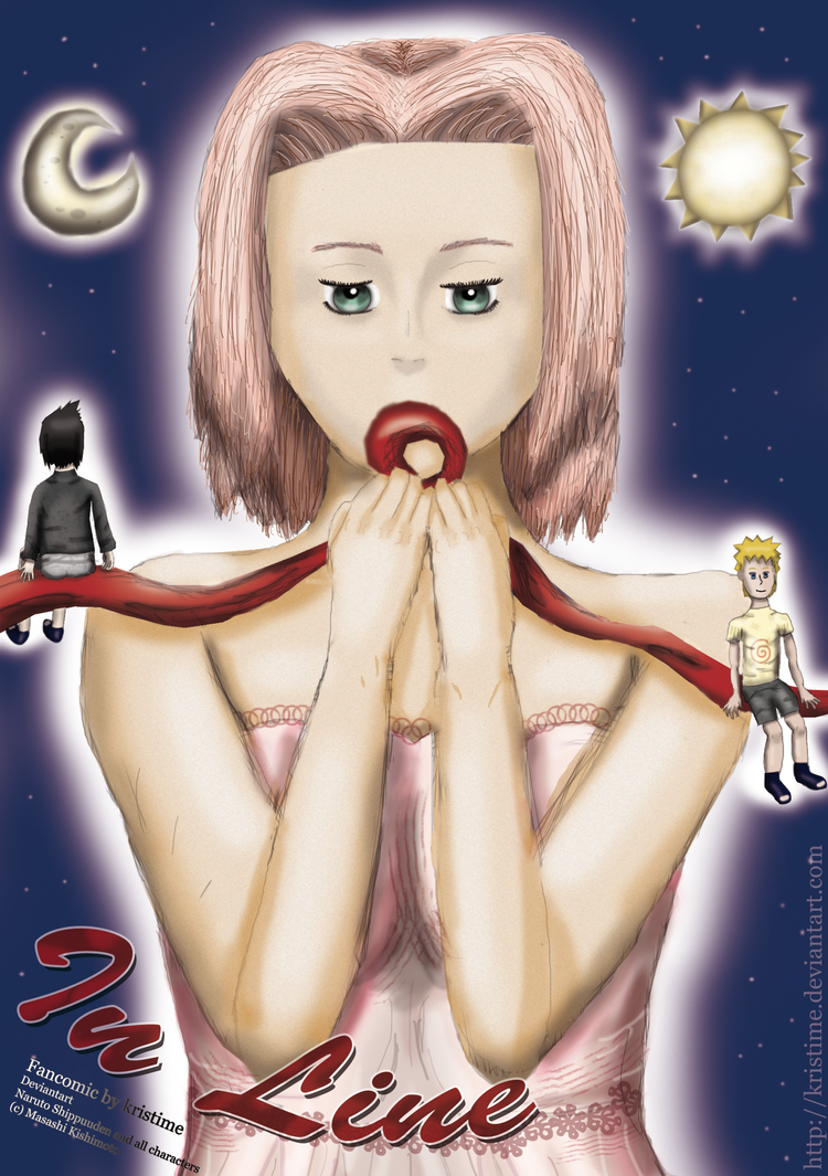 Narusaku-Doujinshi: 'In Line' (Cover) by kristime