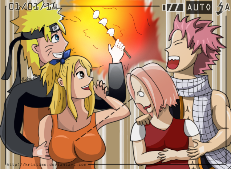 Nalu x Narusaku swapped (Crossover) by kristime