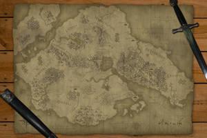 Amrush Hand-Drawn Style Map by gaaran