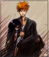gatemush: Ichigo and Rukia by gatemush