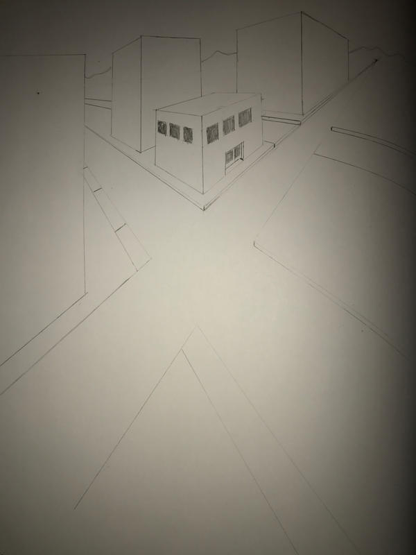 One Point Perspective Practice by FishtheFish