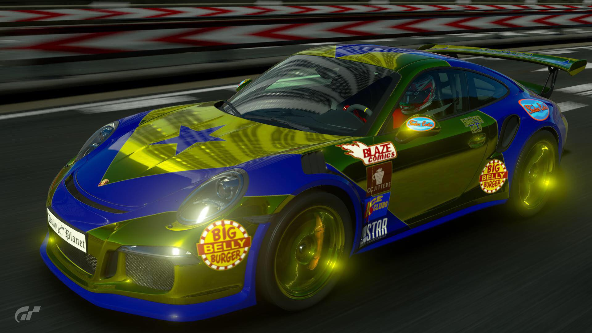 Gran Turismo Photo: DC Comics Booster Gold Porsche by Paxo666