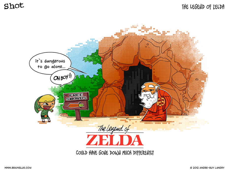 Funny Link Zelda Memes : The legend of zelda by brainslugcomics on deviantart