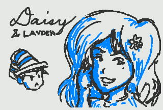 3DS Doodle: Daisy and Layden by kyujinueno