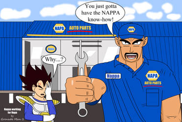 Nappa working for Napa by GrenadeMan1