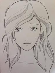 Inktober #1 Portrait by ChizuMichi