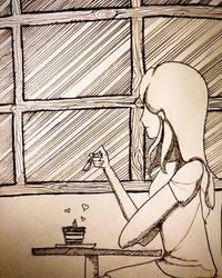 Inktober #3 : Fav food : Tiramisu by ChizuMichi