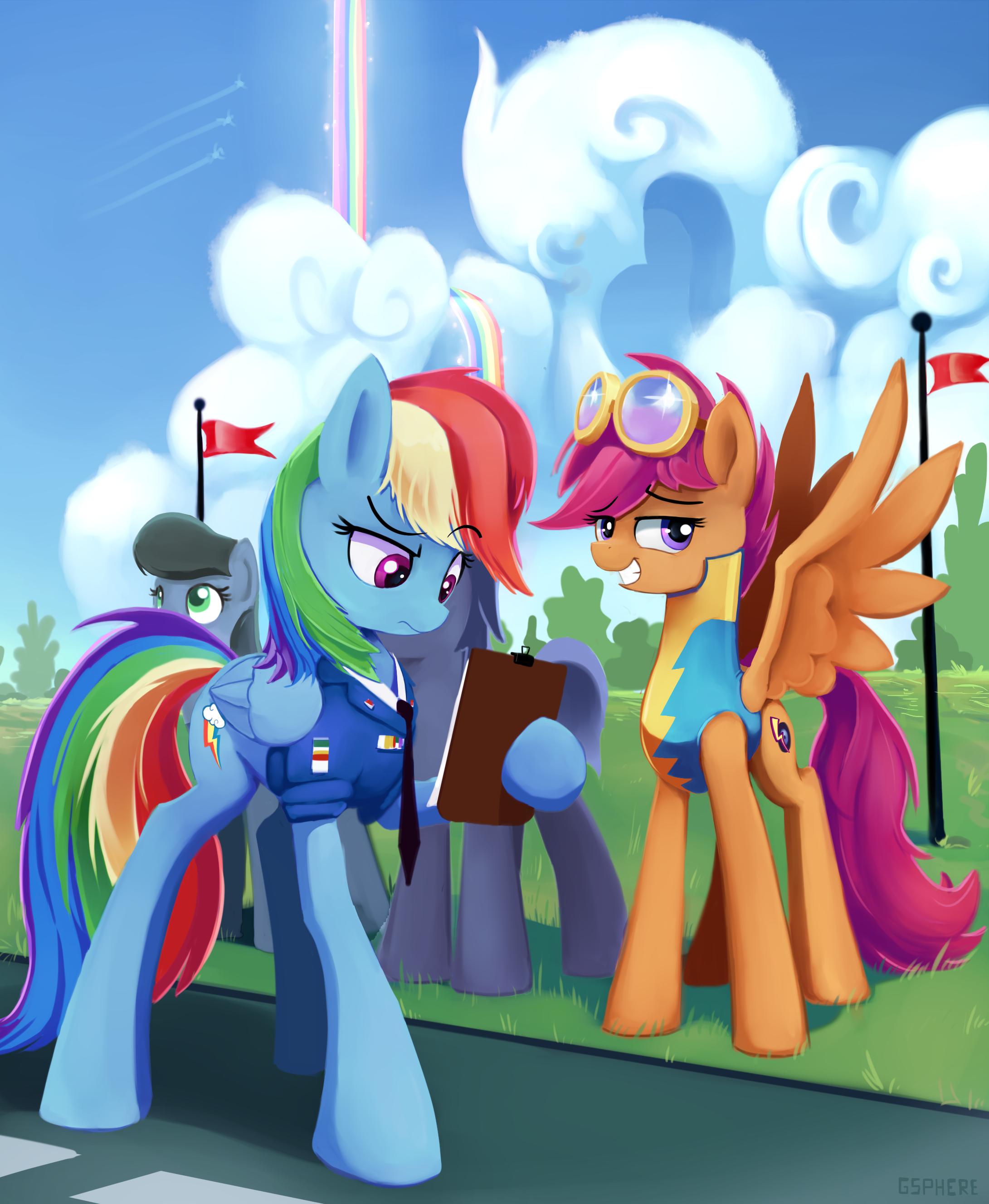 Rainbow Dash And Scootaloo At Wonderbolt Academy Submitted