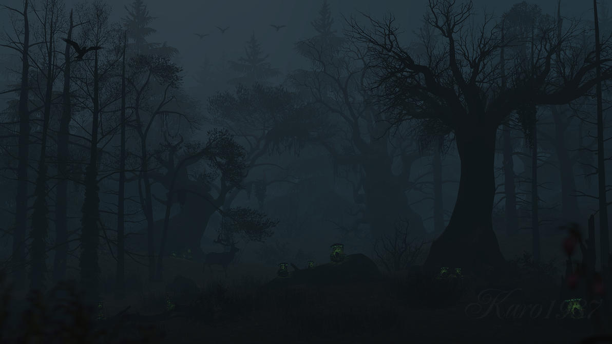 Dark Forest by Karo198... Nightmare Night Wallpaper