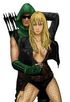 Black Canary and Green Arrow by soyhector