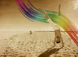 Rainbow Handstand Widescreen