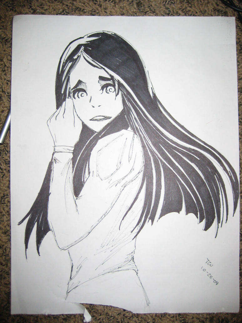 scared girl by hey-mcfly on DeviantArt  scared girl by ...