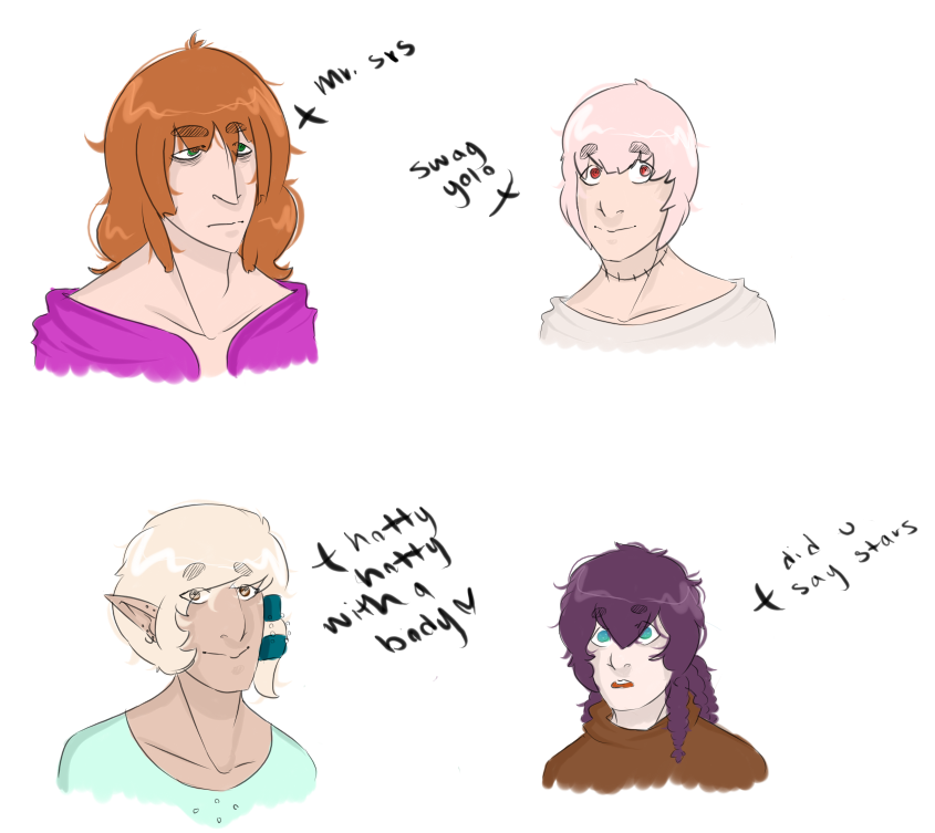 Myth and Fable Lil Doodles by AestheticCannibal
