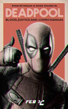 Deadpool retro poster