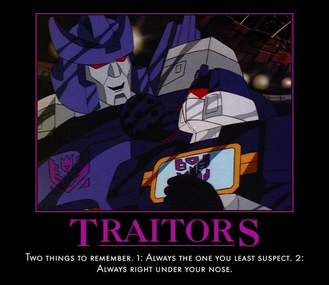 Motivational Poster - Traitors by Soundwave04