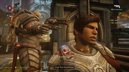 Gears 5 - Sraak executes Kait by Soundwave04