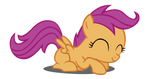 Happy Scootaloo Vector (Redone)