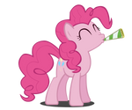 Party Pinkie Pie Vector