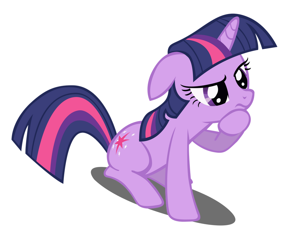 pondering_twilight_sparkle_vector__redon