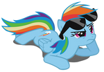 Rainbow Dash Shades Vector (Redone)
