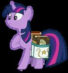 Twilight with a saddlebag