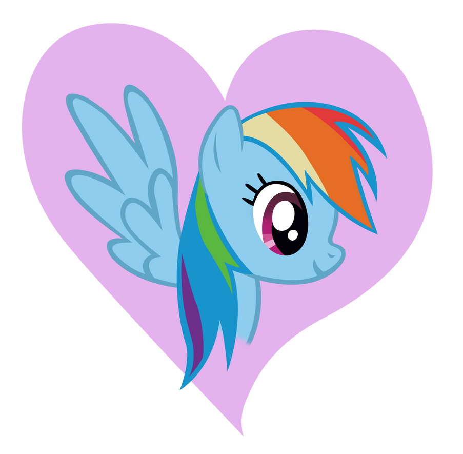 Rainbow Dash Heart Design by Dipi11