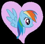 Rainbow Dash Heart Design