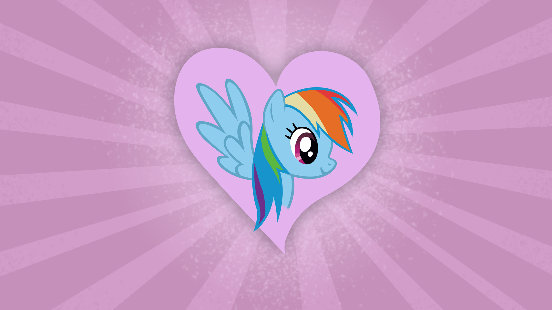 Rainbow Dash Heart Wallpaper by Dipi11