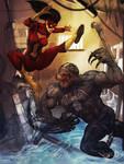 Spider Woman vs Venom