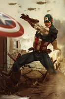 Captain America by Aracubus