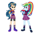 Wondercolt Indigo Zap and Shadowbolt Rainbow Dash