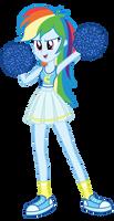 Cheerleader Rainbow Dash by MixiePie