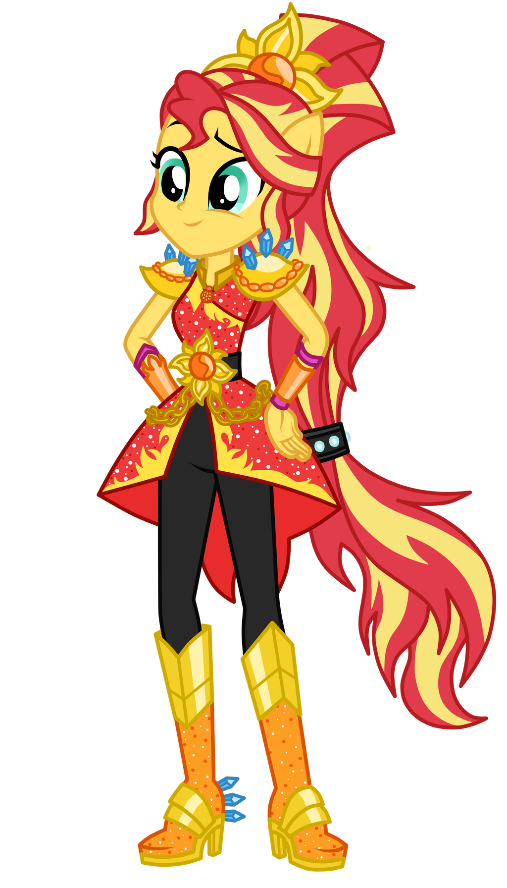 Legend of everfree sunset shimmer by mixiepie on deviantart for My little pony legend of everfree coloring pages