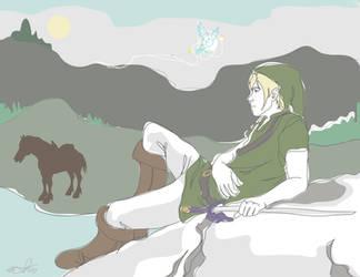 Link Lounging by kakiyo-sempai