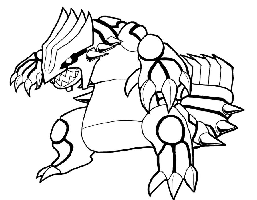 pokemon. groudon colouring pages