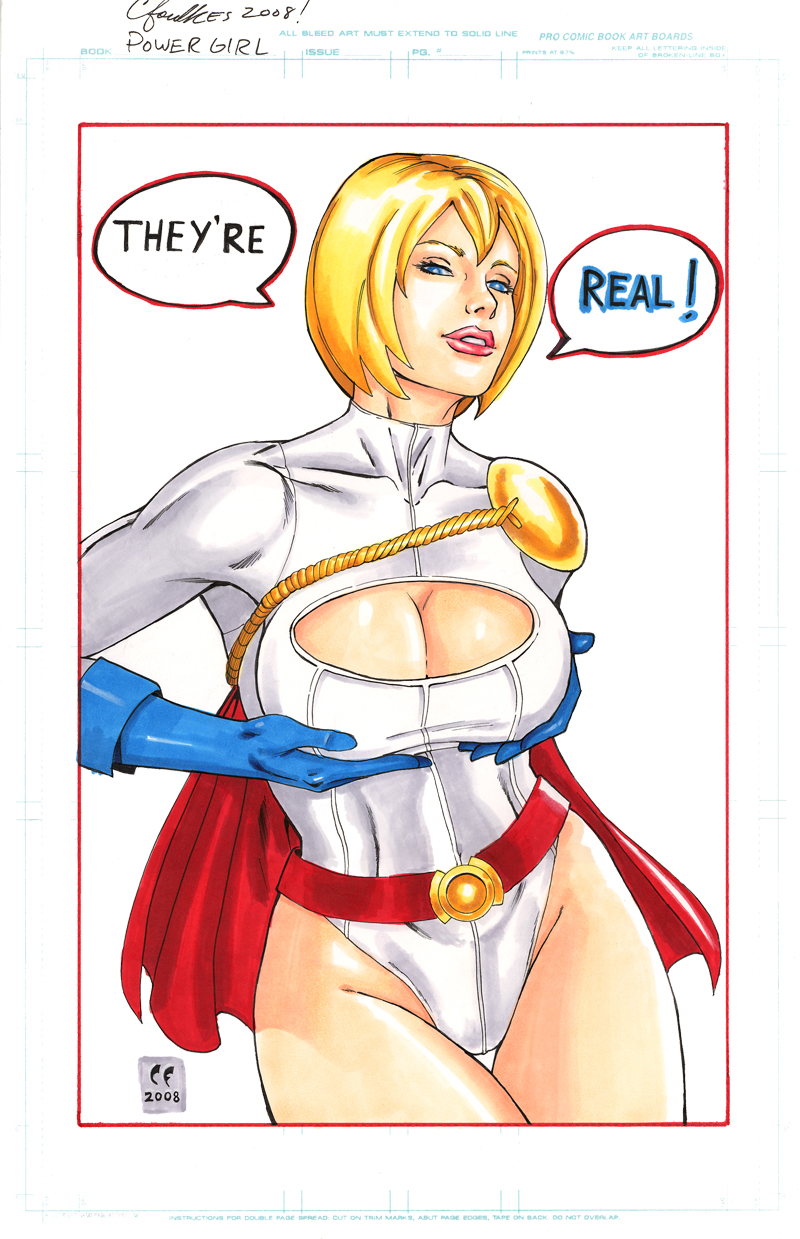 Power Girl They're REAL by daikkenaurora