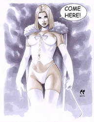 Emma Frost -- Come Here by daikkenaurora