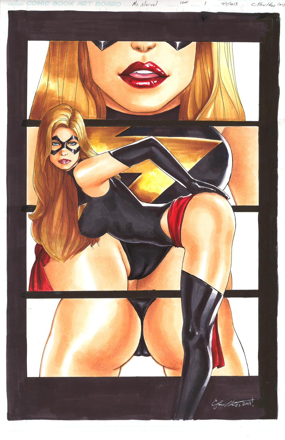 MS. MARVEL COMMISSION by daikkenaurora