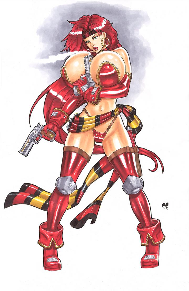 Red Monika Commission by daikkenaurora
