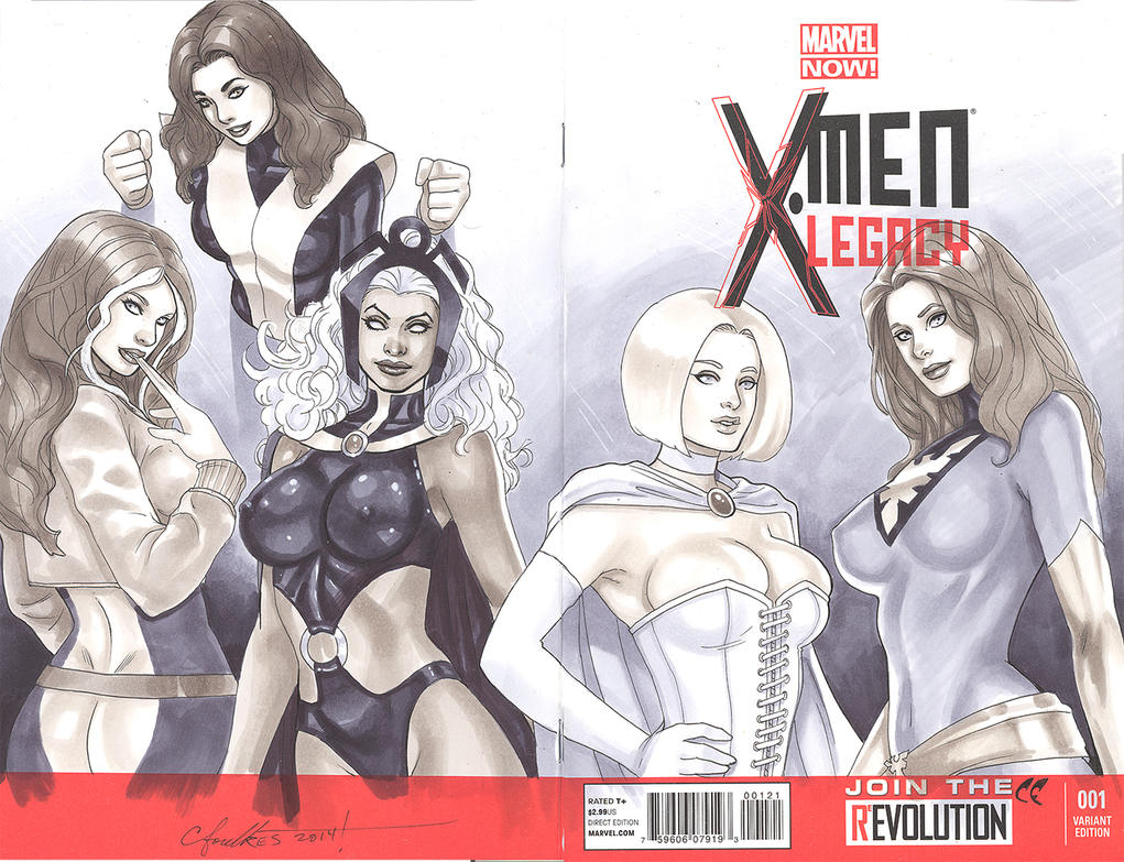 X-men Legacy Sketch Cover by daikkenaurora
