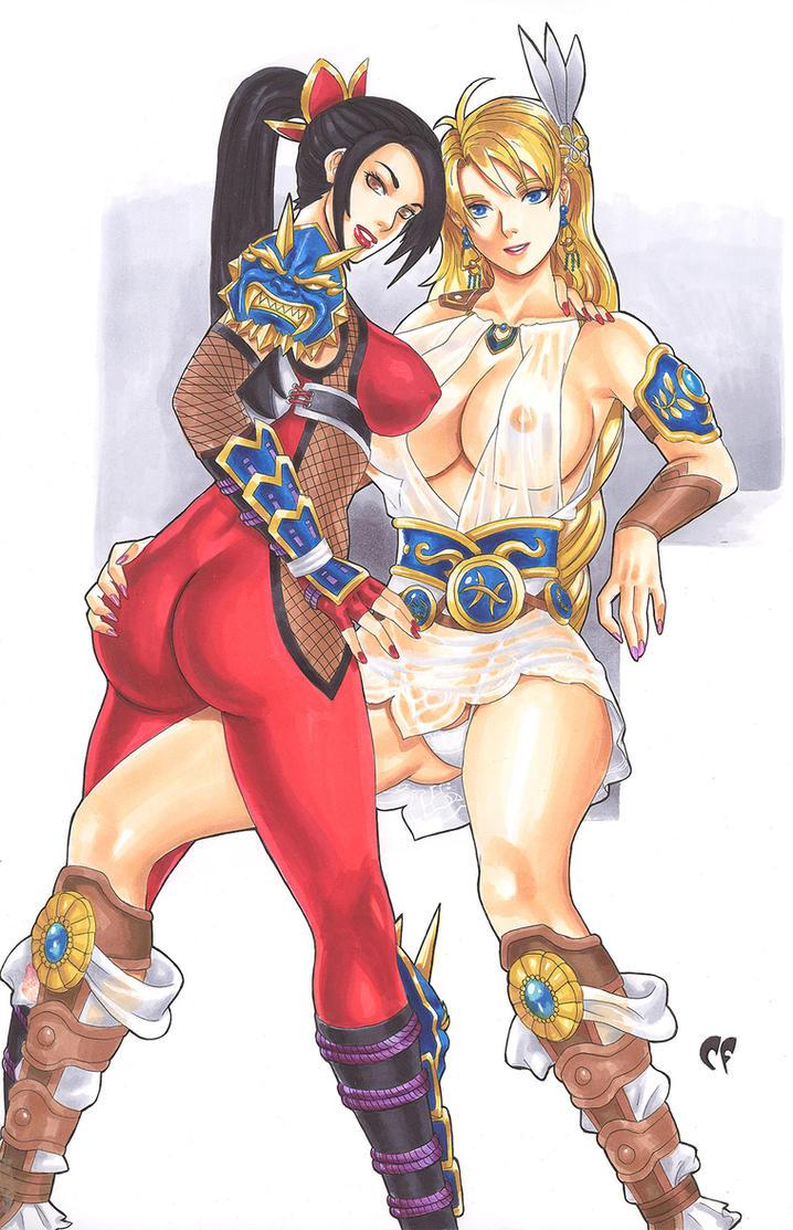 Taki and Sophitia by daikkenaurora