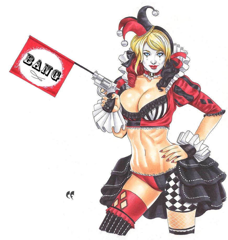 Harley Quinn by daikkenaurora