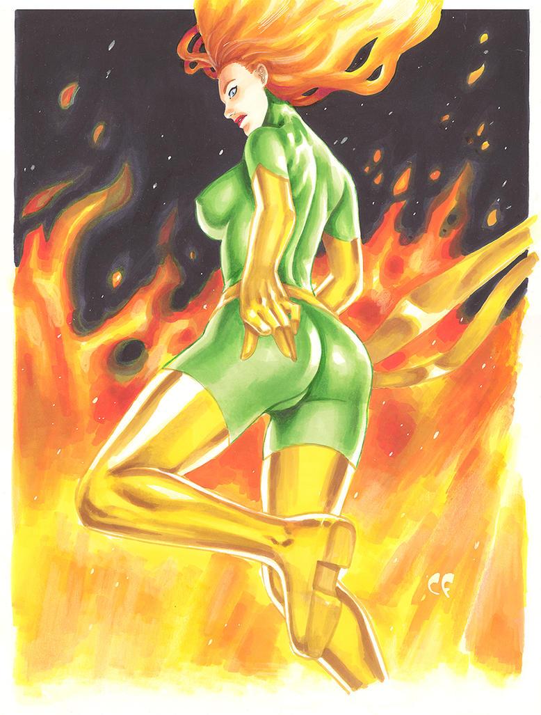 Phoenix Fire Original by daikkenaurora