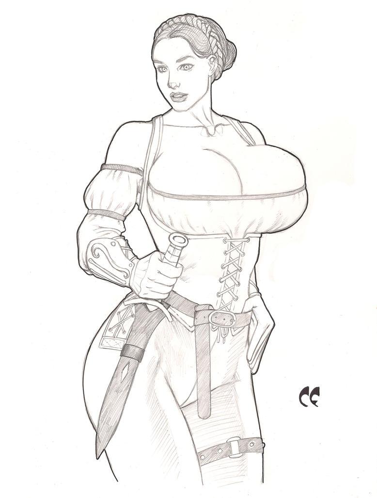 Maggie the Adventurer Commission by daikkenaurora