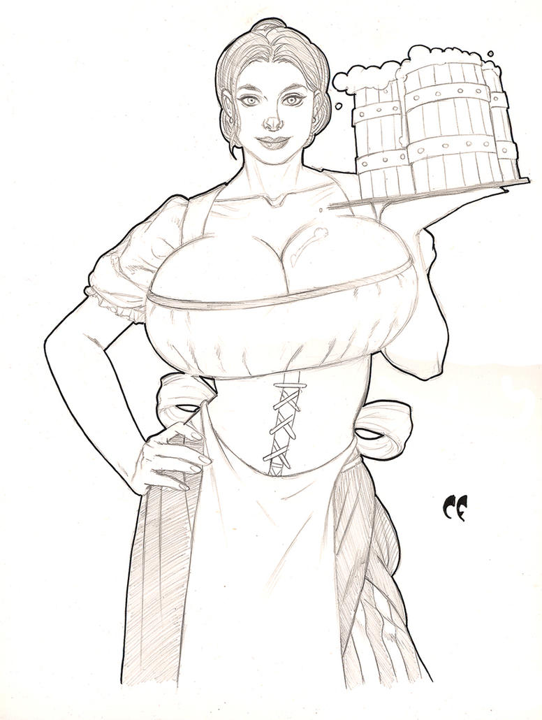 Maggie the Barmaid Commission by daikkenaurora