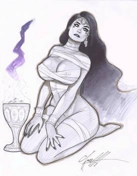 Egyptian Princess Sketch