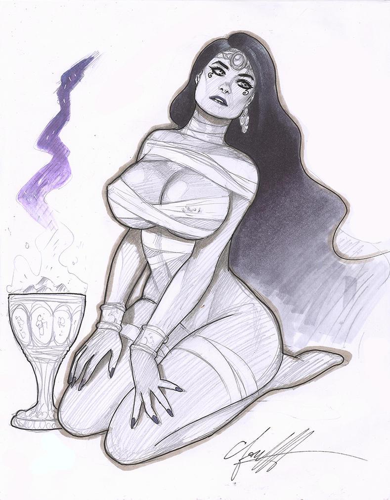 Egyptian Princess Sketch by daikkenaurora