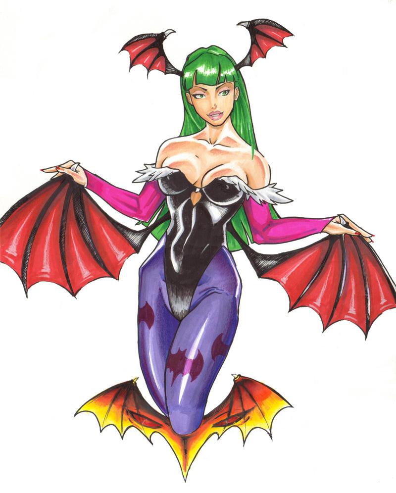 Vampire Savior's Morrigan by daikkenaurora