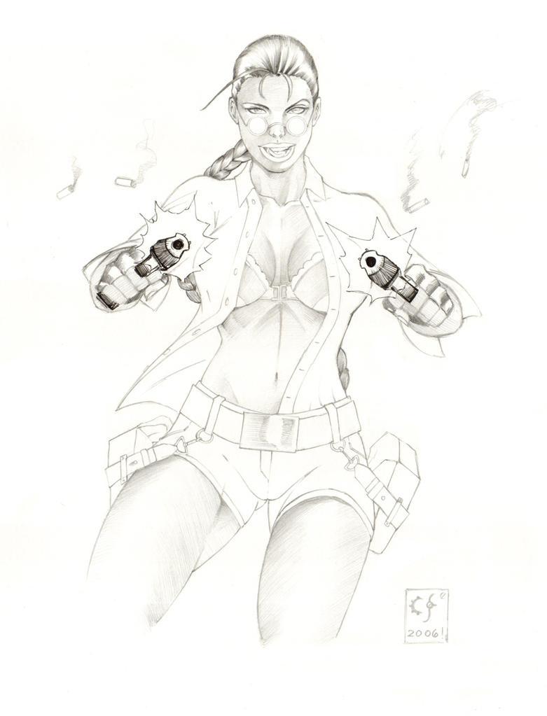 Tomb Raider Commission by daikkenaurora